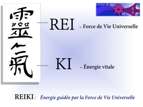 ideogramme Reiki + traduction