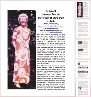 COMMENT HAWAYO TAKATA PRATIQUAIT LE REIKI